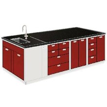 LABORATORY TABLE LIVING ROOM WITH SINK WITHOUT A R