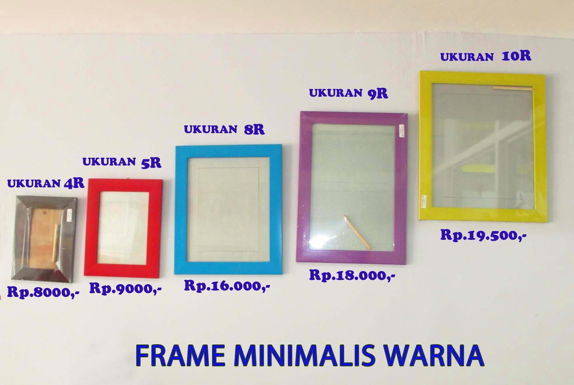 Jual Frame Minimalis Warna Harga Murah Kota Serang Oleh
