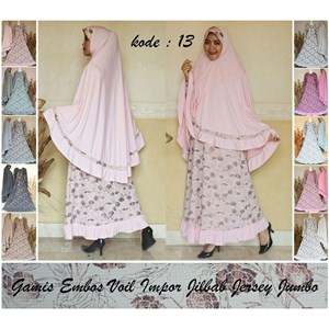 Jual Baju Gamis Embos Voil Impor Jilbab Jersey Jumbo Harga