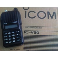 Radio Handy Talky Icom Ic-V80 Rapid Charger And Lithium Battery