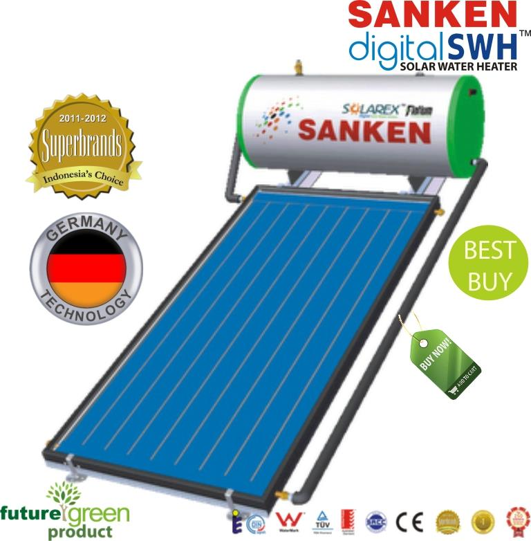 jual pemanas air mandi tenaga surya murah merk sanken