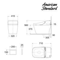 Jual Toilet aerozen integrated  berkualitas dan bergaransi American standard Shower Toilet collections 2