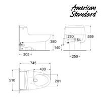 Jual Toilet berkualitas dan bergaransi HA20YNC10-A American standard Ids 2