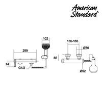 Jual keran air dan shower mixer berkualitas F070E092 american standard  2
