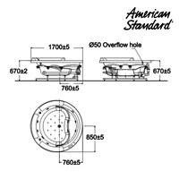 Jual Bathtub 100C1711 american standard IDS wellness tub 2