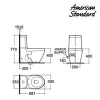 Jual Produk kloset LA01HA10K American standard La Vita collections  2