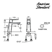 Jual Produk keran air F069C002 American standard berkualitas  2