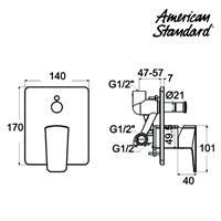 Jual Produk shower keran air F069D01K berkualitas american standard 2