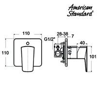 Jual Produk keran shower kamar mandi F069E02K American standard  2