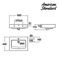 Jual Produk wastafel YAA7A3C10-A berkualitas American standard  2