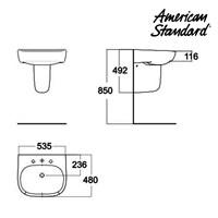 Jual Produk wastafel AC05LA10K berkualitas American standard  2