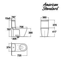 Jual Produk toilet CAA4YPC10 berkualitas american standard  2