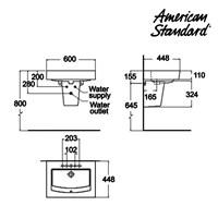 Jual Produk wastafel dengan semi pedestal  GAA4A1C10 berkualitas american standard  2
