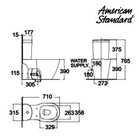 Jual Produk toilet CA21YPC10-A American standard berkualitas  2