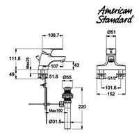 Jual Produk keran air F068C002 American standard berkualitas 2