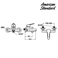 Jual Produk shower kamar mandi F068D032 American standard berkualitas  2