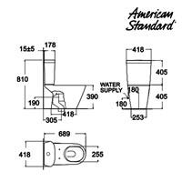 Jual Produk toilet berkualitas CAT4YPC10 American standard berkualitas  2