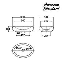 Jual Produk wastafel YA16A1C10-A American standard berkualitas vanitory collection  2