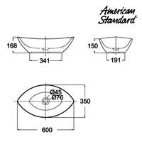 Jual Produk wastafel YA14A1C10-A American standard berkualitas Vanitory Collection  2