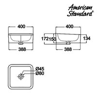 Jual Produk wastafel YA15A3C10-A berkualitas American standard Vanitory collection  2