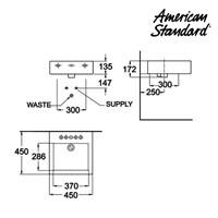 Jual Produk wastafel vanitory YA05A0C10-A American standard berkualitas Vanitory collection  2