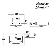 Jual Produk wastafel LA02T2Cxx American standard berkualitas Wall hung collection  2