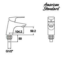 Jual Produk kran air F076C132 American standard berkualitas  2