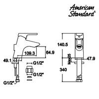 Jual Produk kran wastafel F081C002 American standard berkualitas  2