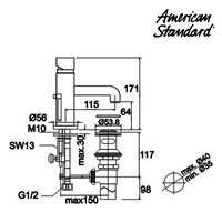 Jual Kran Air American Standard F051C132  2