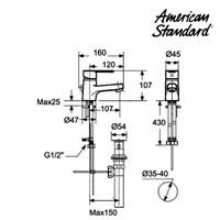 Jual Produk kran air wastafel F061C112 berkualitas terbaru dari American standard  2