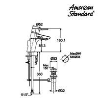 Jual Produk kran air F067K032 berkualitas dan terbaru dari American standard 2