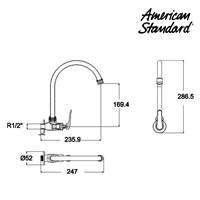 Jual Kran air F085K042 Arr Wall Mounted Kitchen Mono berkualitas dan terbaru dari american standard  2