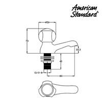Jual Kran air wastafel F062C039 berkualitas dan terbaru dari American standard  2