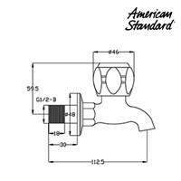 Jual Kran air F062G102 berkualitas dan terbaru dari American standard  2