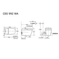 Jual Closet TOTO Automatic CES992WA 2