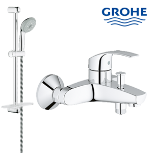 Shower rail set Grohe 28436001 lengkap dengan kran shower berkualitas dan terbaru