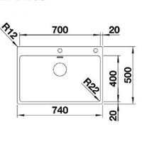 Jual Kitchen Sink Blanco Andano 700 -IF 2