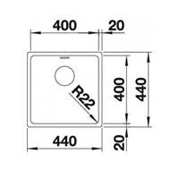 Jual Kitchen Sink Blanco Andano 400 -U 2