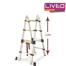 Tangga lipat Magic Telescopic (4.4 M) LIVEO LV 223
