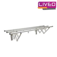 Gantungan baju dinding 3 Bars Aluminium Liveo GW 379A  1