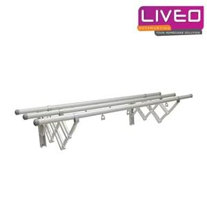 Gantungan baju dinding 3 Bars Aluminium Liveo GW 379A