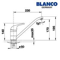 Distributor Blanco kran air tipe Arum 3