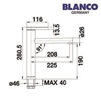 Distributor Blanco kran air tipe Linee 3