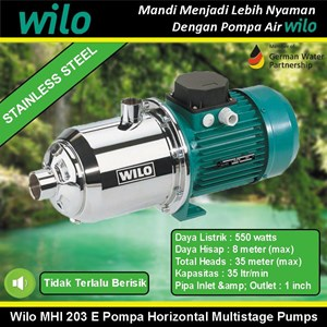 Wilo MHI203E Pompa Horizontal Multistage Stainless Steel Pumps