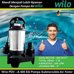 Wilo PDV - A 400 EA Pompa Submersible Air Kotor