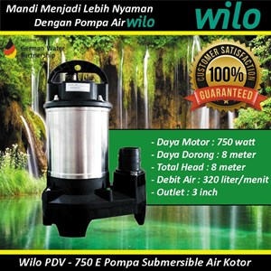 Wilo PDV - A 750 E Pompa Submersible Air Kotor