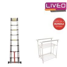 Bundle tangga lipat dan gantungan baju Liveo