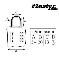 Jual Master Lock Gembok Kode Unique Design tipe 652DCOL 2