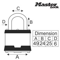 Jual Master Lock Fixed Combination Padlocks tipe 2050XD 2
