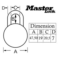 Jual Master Lock Gembok Kode General Security Combination Padlocks tipe 1502D 2